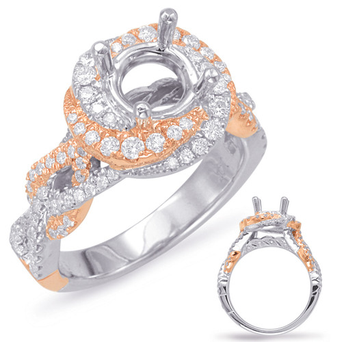 Diamond Engagement Ring  in 14K Rose and White Gold   EN7901-1RW