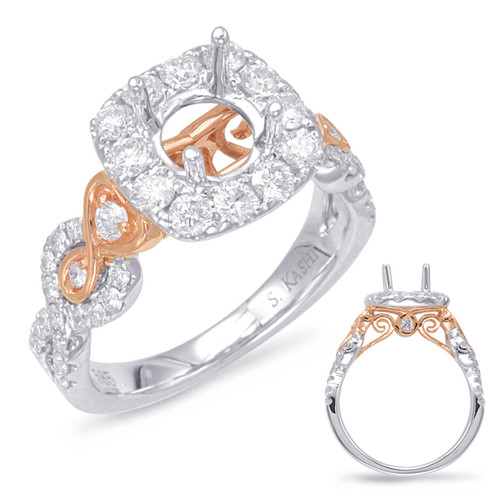 Diamond Engagement Ring  in 14K Rose and White Gold   EN7903-125RW
