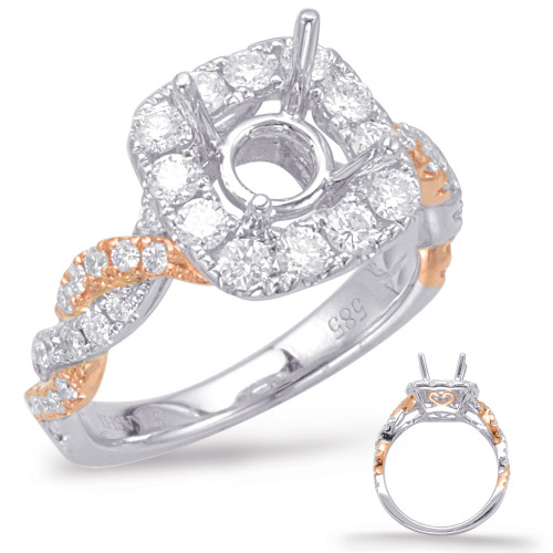 Diamond Engagement Ring  in 14K Rose and White Gold   EN7944-75RW