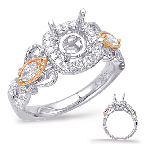 Diamond Engagement Ring  in 14K Rose and White Gold   EN7945-1RW