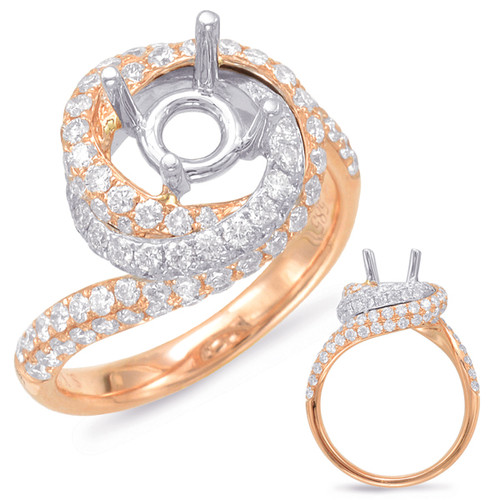 Diamond Engagement Ring  in 14K Rose and White Gold    EN7836-1RW