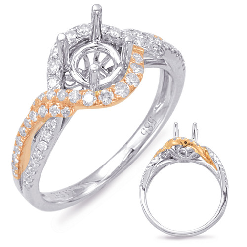 Diamond Engagement Ring  in 14K Rose and White Gold    EN7837-75RW