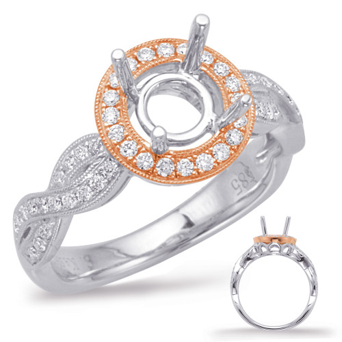 Diamond Engagement Ring  in 14K Rose and White Gold    EN7971-1RW
