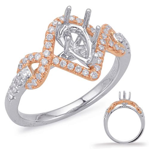 Diamond Engagement Ring  in 14K Rose and White Gold    EN8013-8X5MRW
