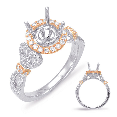 Diamond Engagement Ring  in 14K Rose and White Gold    EN7864-1RW