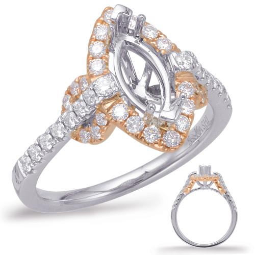Diamond Engagement Ring  in 14K Rose and White Gold    EN7949-9X4.5MRW