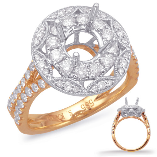 Diamond Engagement Ring  in 14K Rose and White Gold   EN8041-1RW