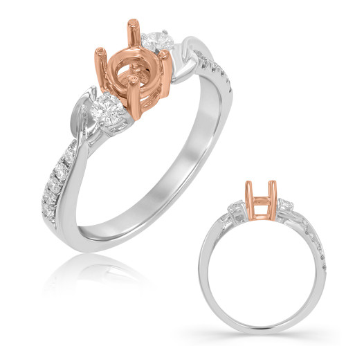 Diamond Engagement Ring  in 14K Rose and White Gold    EN7710RW