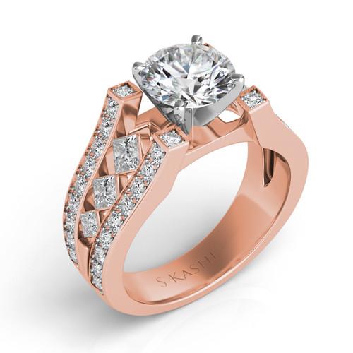 Diamond Engagement Ring  in 14K Rose Gold   EN6780RG