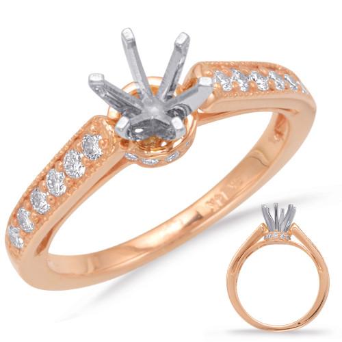 Diamond Engagement Ring  in 14K Rose Gold   EN7015RG
