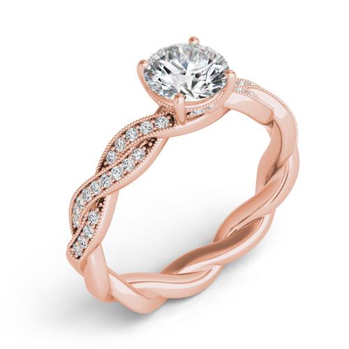 Diamond Engagement Ring  in 14K Rose Gold   EN7213RG