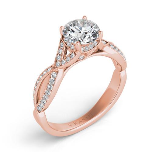 Diamond Engagement Ring  in 14K Rose Gold   EN7268-5.5MRG