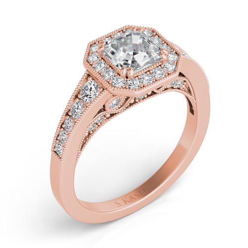 Diamond Engagement Ring  in 14K Rose Gold   EN7298RG