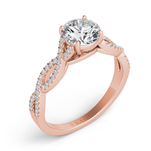 Diamond Engagement Ring  in 14K Rose Gold   EN7325-75RG