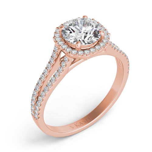 Diamond Engagement Ring  in 14K Rose Gold   EN7327-1RG