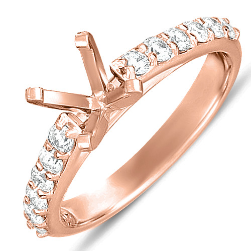 Diamond Engagement Ring  in 14K Rose Gold   EN7345RG