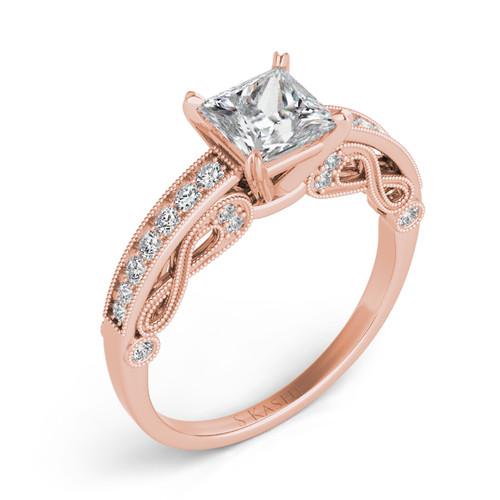 Diamond Engagement Ring  in 14K Rose Gold   EN7467RG