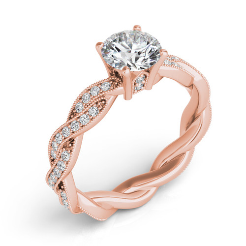 Diamond Engagement Ring  in 14K Rose Gold   EN7472-1RG