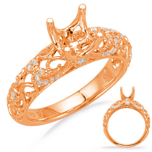 Diamond Engagement Ring  in 14K Rose Gold   EN8017-1RG