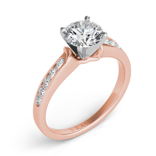 Diamond Engagement Ring  in 14K Rose Gold    EN1815RG