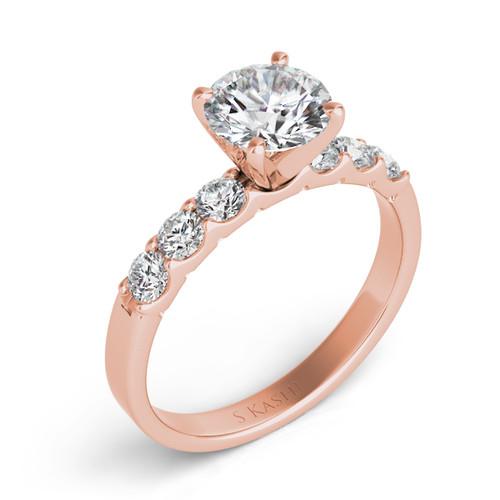 Diamond Engagement Ring  in 14K Rose Gold    EN3587RG