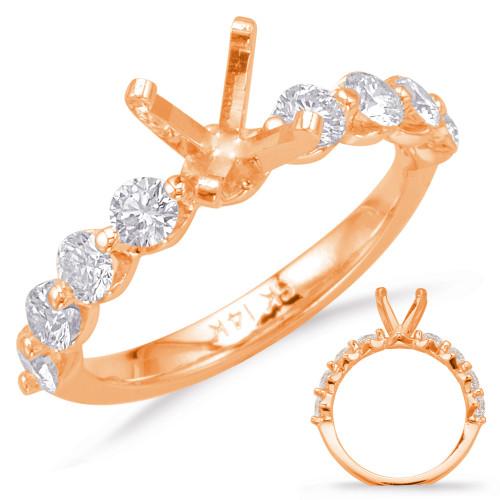 Diamond Engagement Ring  in 14K Rose Gold    EN6247RG