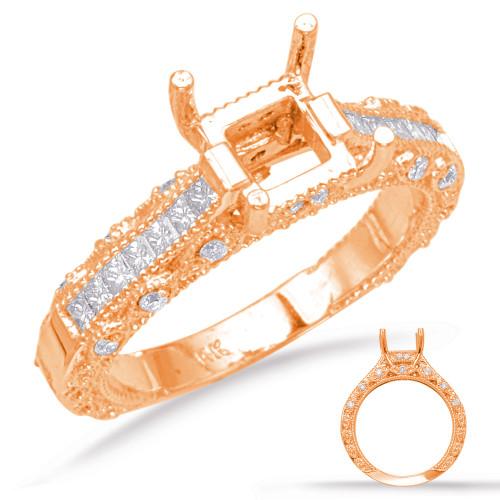 Diamond Engagement Ring  in 14K Rose Gold    EN6907RG