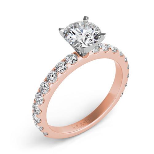 Diamond Engagement Ring  in 14K Rose Gold    EN7006RG