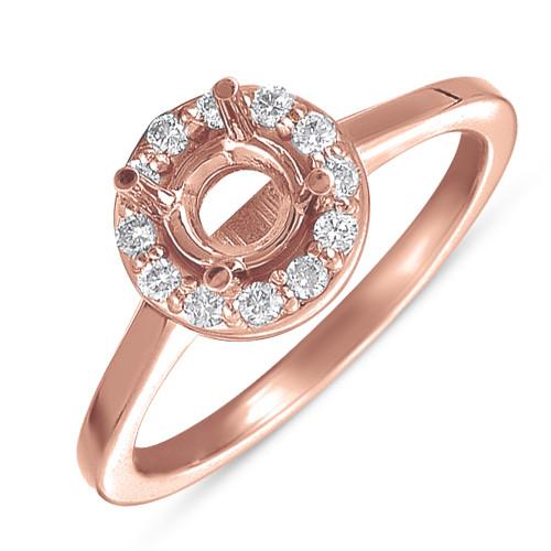 Diamond Engagement Ring  in 14K Rose Gold    EN7223RG