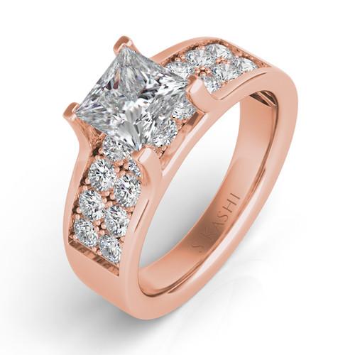 Diamond Engagement Ring  in 14K Rose Gold    EN7078RG