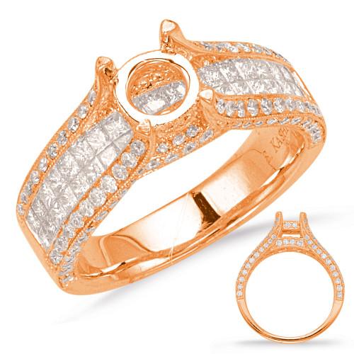 Diamond Engagement Ring  in 14K Rose Gold    EN7137-1.5RDRG