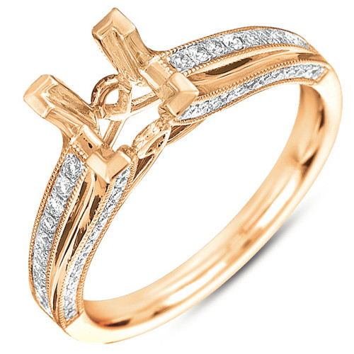 Diamond Engagement Ring  in 14K Rose Gold    EN7176RG
