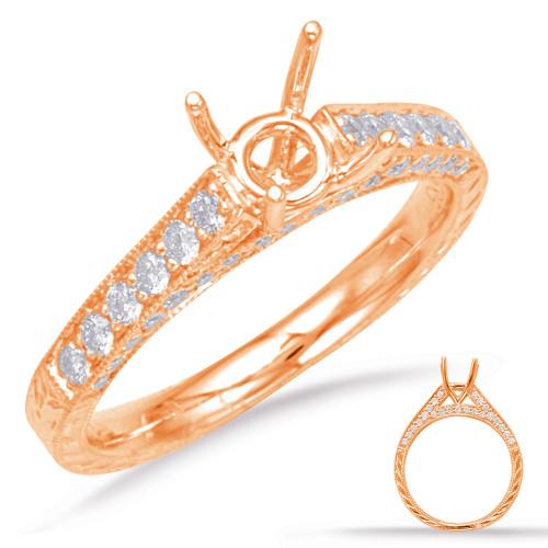 Diamond Engagement Ring  in 14K Rose Gold    EN7201-1RG