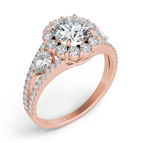 Diamond Engagement Ring  in 14K Rose Gold    EN7265-1RG