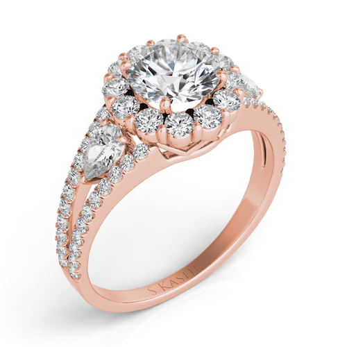 Diamond Engagement Ring  in 14K Rose Gold    EN7265-75RG