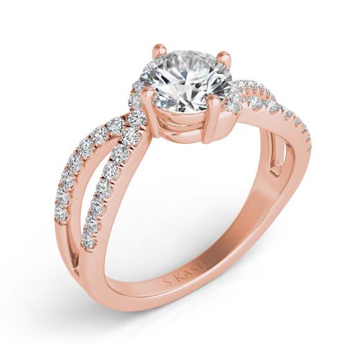 Diamond Engagement Ring  in 14K Rose Gold    EN7310RG
