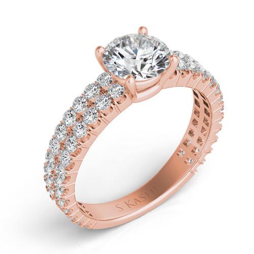 Diamond Engagement Ring  in 14K Rose Gold    EN7316RG