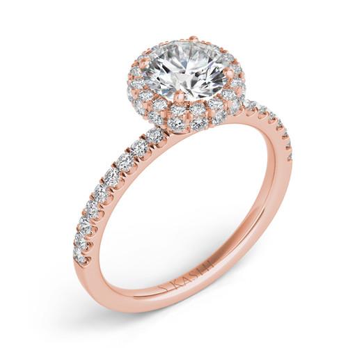 Diamond Engagement Ring  in 14K Rose Gold    EN7322-50RG