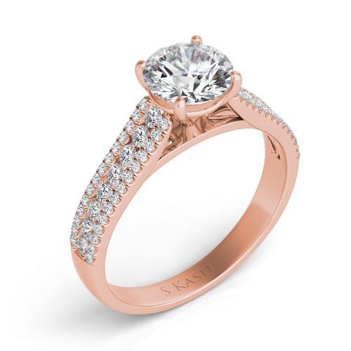 Diamond Engagement Ring  in 14K Rose Gold    EN7326RG