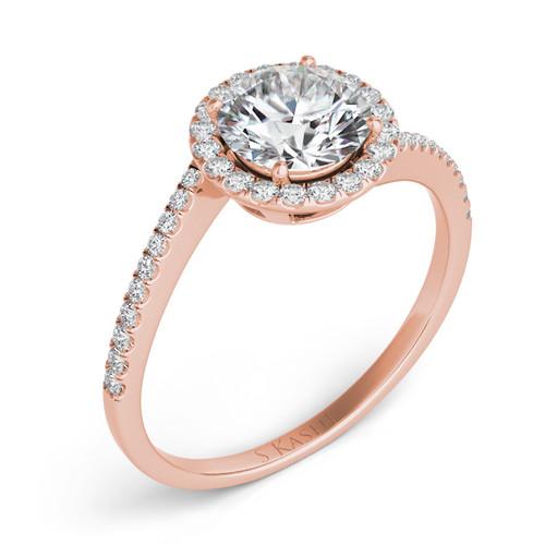 Diamond Engagement Ring  in 14K Rose Gold    EN7367-1RG
