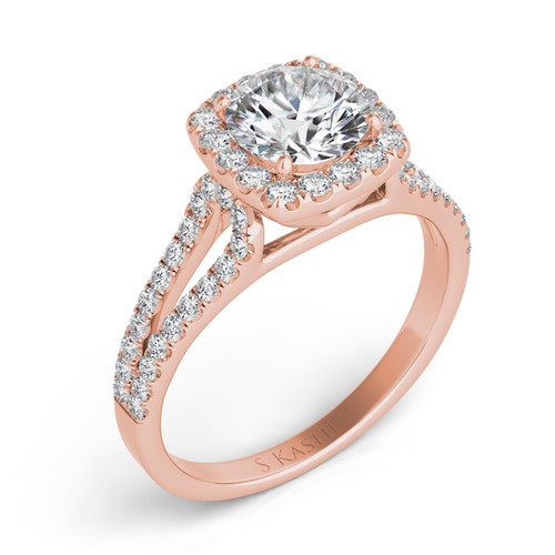 Diamond Engagement Ring  in 14K Rose Gold    EN7369-1RG