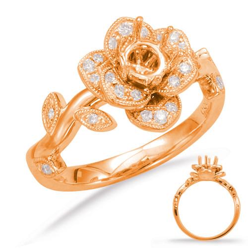 Diamond Engagement Ring  in 14K Rose Gold   EN7818-75RG