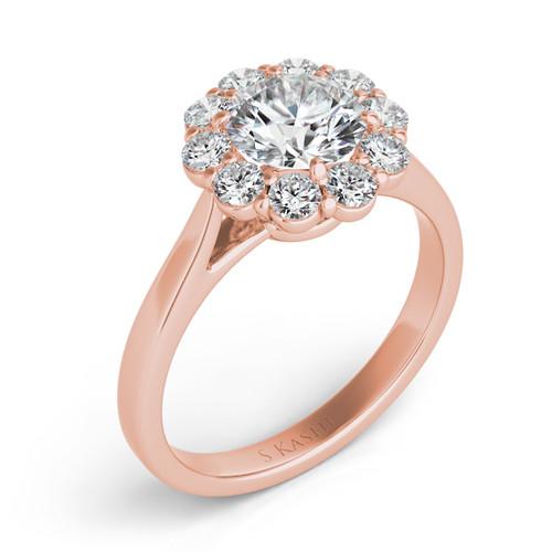 Diamond Engagement Ring  in 14K Rose Gold   EN7376-1RG