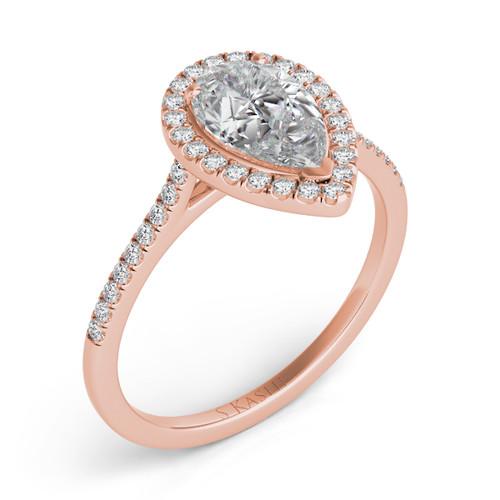Diamond Engagement Ring  in 14K Rose Gold   EN7519-8X5.5MRG