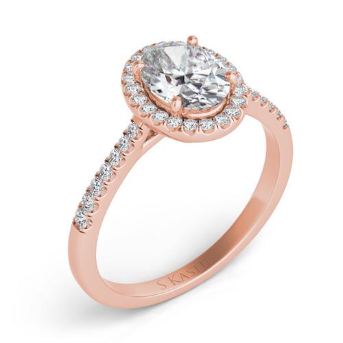 Diamond Engagement Ring  in 14K Rose Gold   EN7543-7X5MRG
