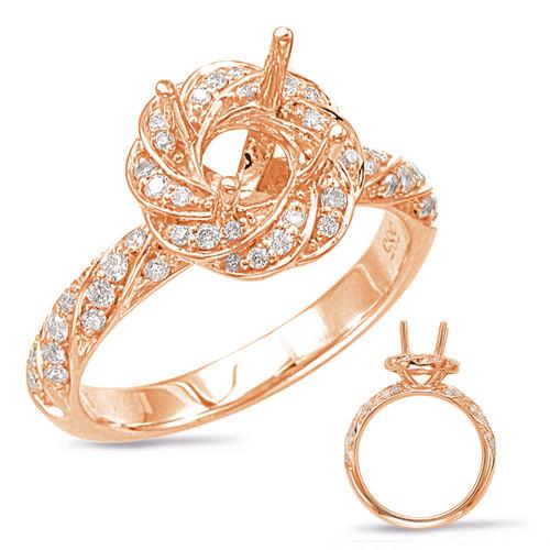 Diamond Engagement Ring  in 14K Rose Gold   EN7868-1RG