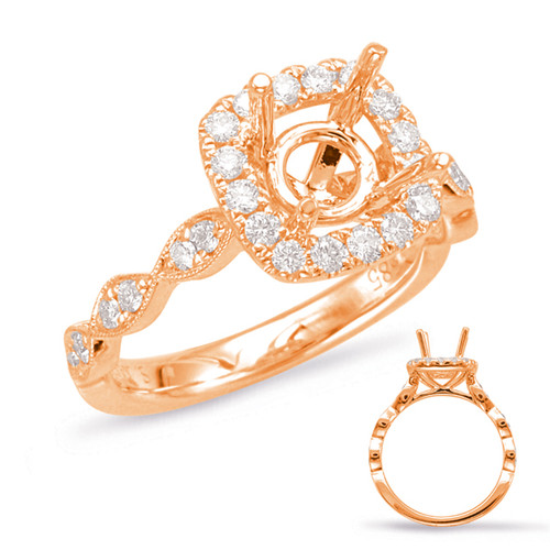 Diamond Engagement Ring  in 14K Rose Gold   EN7897-1RG