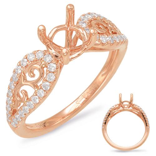 Diamond Engagement Ring  in 14K Rose Gold   EN7908-1RG