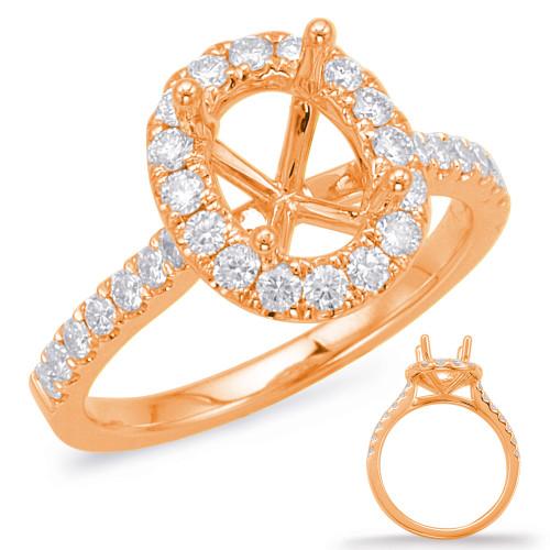 Diamond Engagement Ring  in 14K Rose Gold   EN7936-7X5MRG