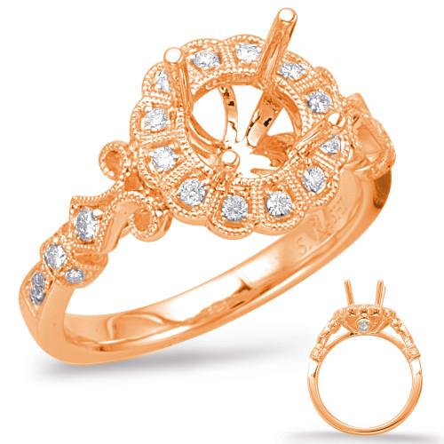 Diamond Engagement Ring  in 14K Rose Gold   EN7946-75RG